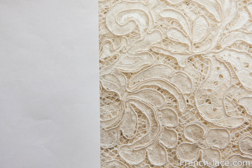 Naturel lace and a list of paper