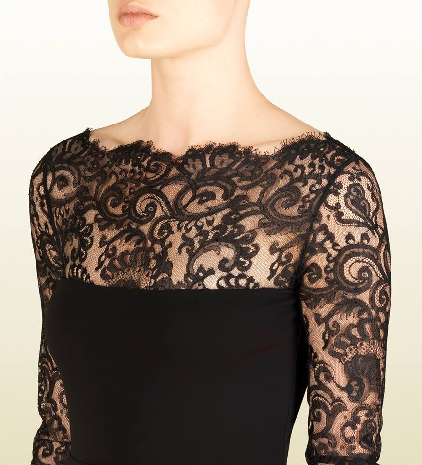 Black Lace Dress By Gucci French Lace Fabric Online Shop