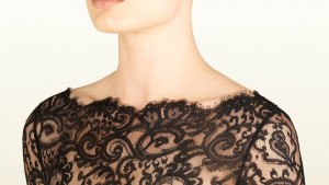 black chantilly lace dress