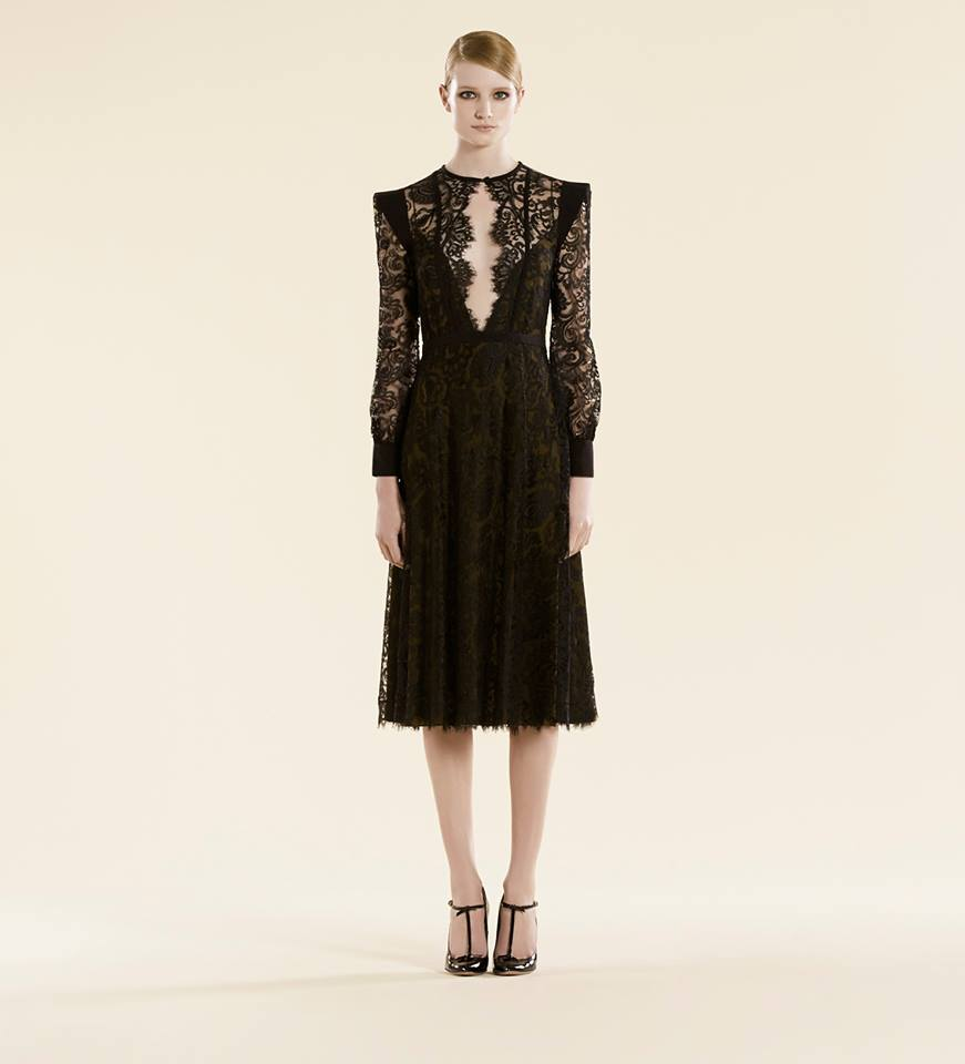 evening black lace gown