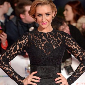 Catherine Tyldesley on the red carpet of National TV Awards in London.