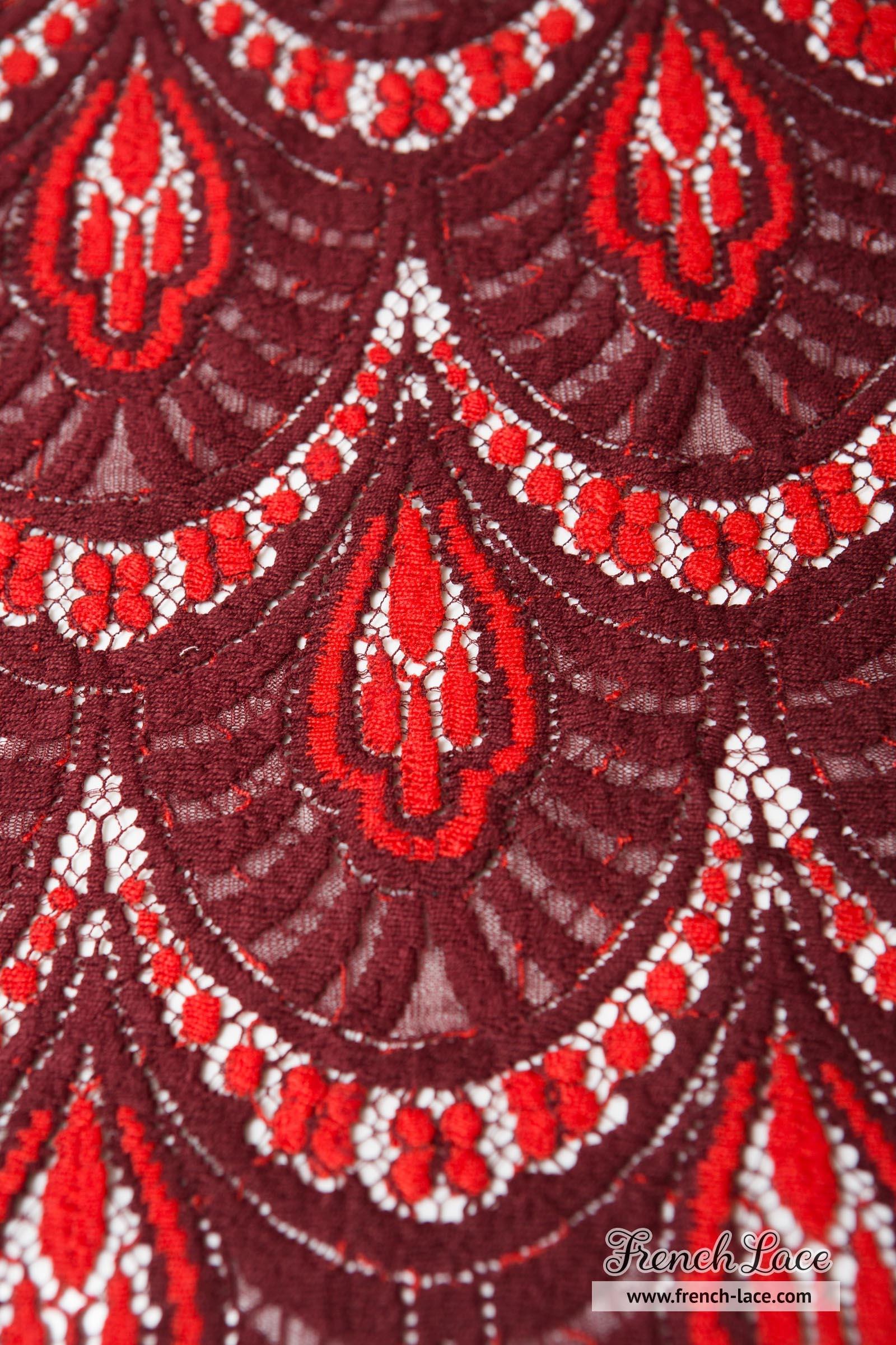 cayla 100 red bordeaux french lace online shop. Black Bedroom Furniture Sets. Home Design Ideas