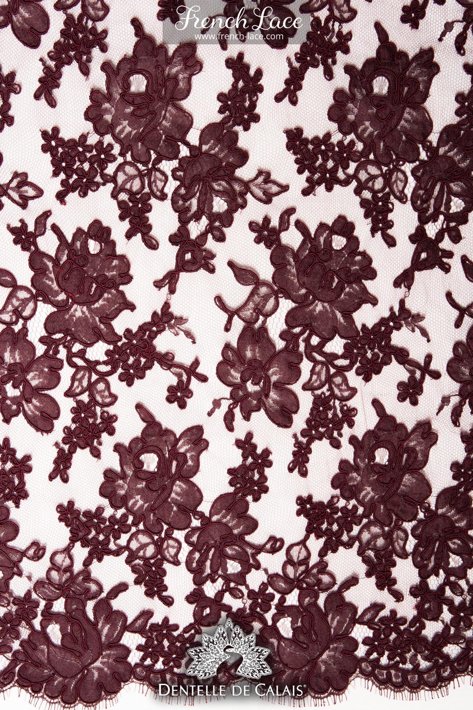 cambrai e 85 bordeaux french lace online shop. Black Bedroom Furniture Sets. Home Design Ideas