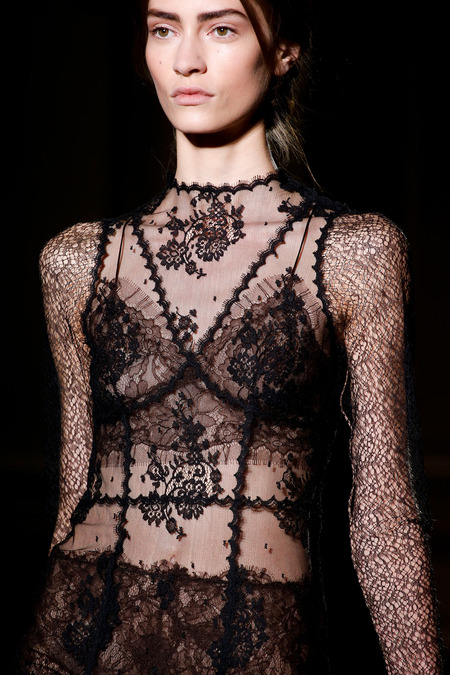 Valentino Spring-Summer 2013 and a tender black Chantilly lace...