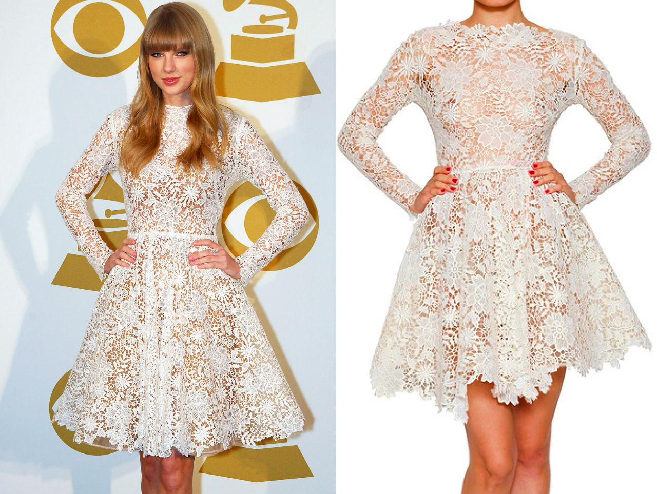 White Guipure lace dress, a better look
