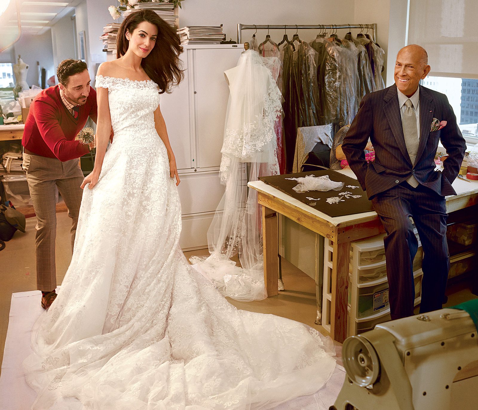 Amal Alamuddin and George Clooney wedding! Many layers of Alexa lace for an outstanding bridal gown.