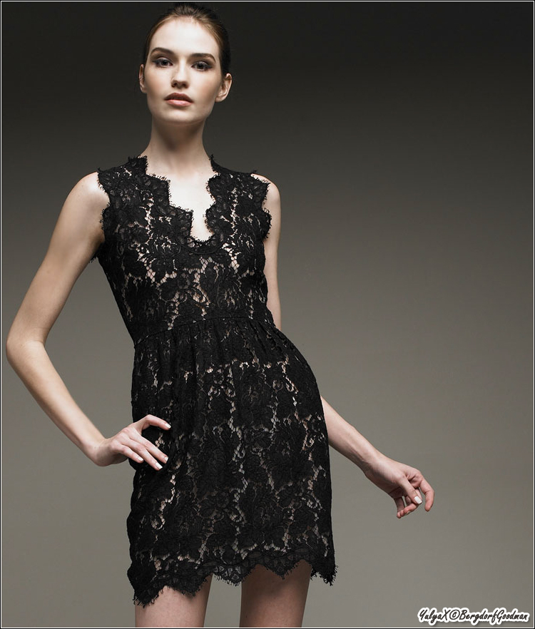 Stella McCartney guipure small black lace dress... We have this lace in very interesting colors!