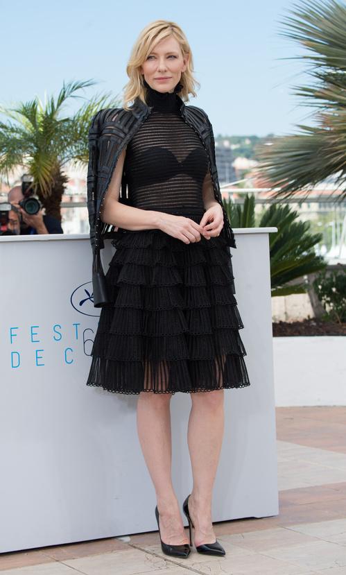 Cate Blanchett looking elegant in Alexander McQueen.