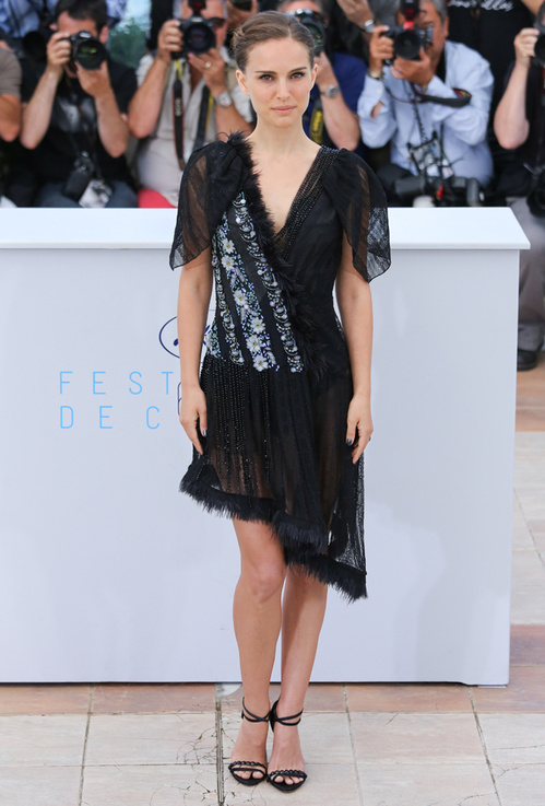 Natalie Portman in a sophisticated Rodarte dress, awesome use of different lace designs together.