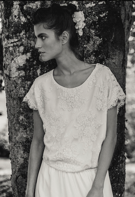 Top in Dentelles Jean Bracq by Laure de Sagazan.